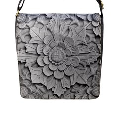 Pattern Motif Decor Flap Messenger Bag (l)
