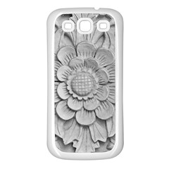 Pattern Motif Decor Samsung Galaxy S3 Back Case (White)