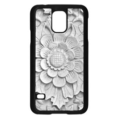 Pattern Motif Decor Samsung Galaxy S5 Case (Black)
