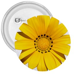 Transparent Flower Summer Yellow 3  Buttons