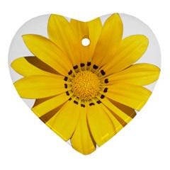 Transparent Flower Summer Yellow Ornament (heart)