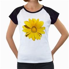 Transparent Flower Summer Yellow Women s Cap Sleeve T