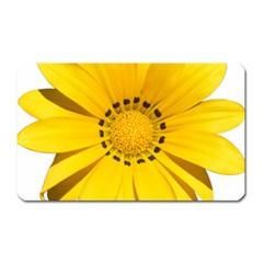 Transparent Flower Summer Yellow Magnet (Rectangular)