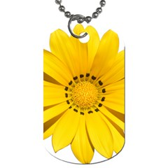 Transparent Flower Summer Yellow Dog Tag (One Side)