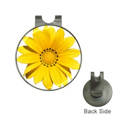 Transparent Flower Summer Yellow Hat Clips With Golf Markers