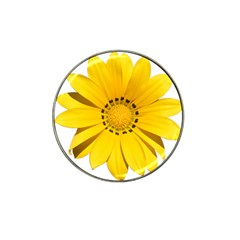 Transparent Flower Summer Yellow Hat Clip Ball Marker (4 pack)