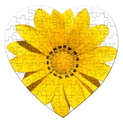 Transparent Flower Summer Yellow Jigsaw Puzzle (heart)