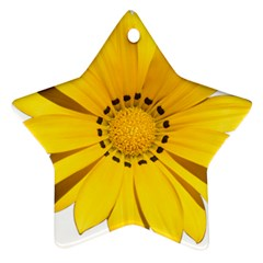Transparent Flower Summer Yellow Star Ornament (Two Sides)