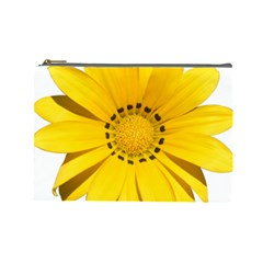 Transparent Flower Summer Yellow Cosmetic Bag (Large)