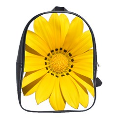 Transparent Flower Summer Yellow School Bags(large)