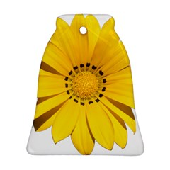 Transparent Flower Summer Yellow Bell Ornament (two Sides)
