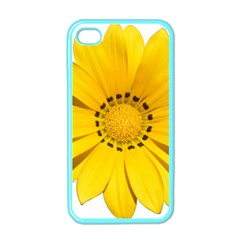 Transparent Flower Summer Yellow Apple iPhone 4 Case (Color)