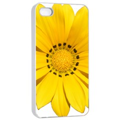Transparent Flower Summer Yellow Apple iPhone 4/4s Seamless Case (White)