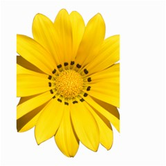 Transparent Flower Summer Yellow Small Garden Flag (Two Sides)