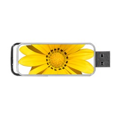 Transparent Flower Summer Yellow Portable USB Flash (One Side)