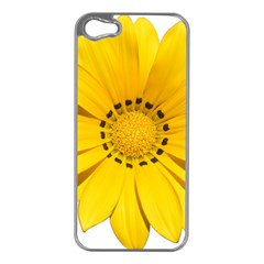 Transparent Flower Summer Yellow Apple iPhone 5 Case (Silver)
