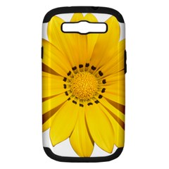 Transparent Flower Summer Yellow Samsung Galaxy S III Hardshell Case (PC+Silicone)