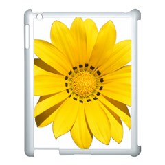 Transparent Flower Summer Yellow Apple Ipad 3/4 Case (white)