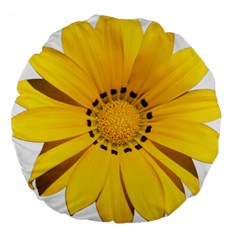 Transparent Flower Summer Yellow Large 18  Premium Round Cushions