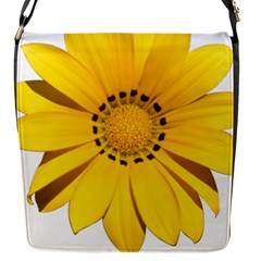 Transparent Flower Summer Yellow Flap Messenger Bag (S)