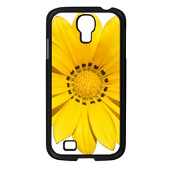 Transparent Flower Summer Yellow Samsung Galaxy S4 I9500/ I9505 Case (Black)