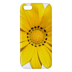Transparent Flower Summer Yellow iPhone 5S/ SE Premium Hardshell Case
