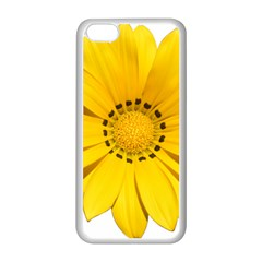 Transparent Flower Summer Yellow Apple iPhone 5C Seamless Case (White)