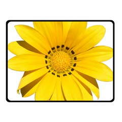 Transparent Flower Summer Yellow Double Sided Fleece Blanket (Small)