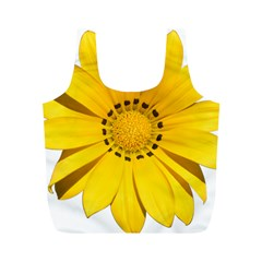 Transparent Flower Summer Yellow Full Print Recycle Bags (M)