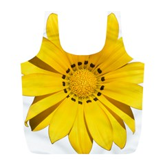 Transparent Flower Summer Yellow Full Print Recycle Bags (L)