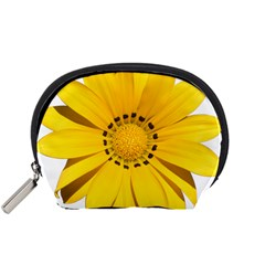 Transparent Flower Summer Yellow Accessory Pouches (Small)