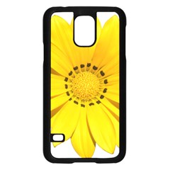 Transparent Flower Summer Yellow Samsung Galaxy S5 Case (Black)