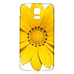 Transparent Flower Summer Yellow Samsung Galaxy S5 Back Case (White)