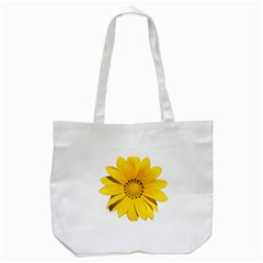 Transparent Flower Summer Yellow Tote Bag (White)
