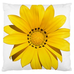 Transparent Flower Summer Yellow Large Flano Cushion Case (Two Sides)