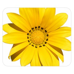 Transparent Flower Summer Yellow Double Sided Flano Blanket (Small)
