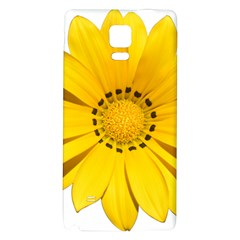 Transparent Flower Summer Yellow Galaxy Note 4 Back Case