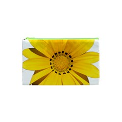 Transparent Flower Summer Yellow Cosmetic Bag (xs)
