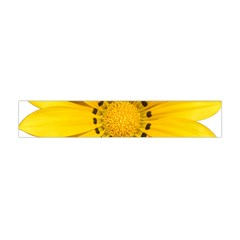 Transparent Flower Summer Yellow Flano Scarf (Mini)