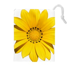 Transparent Flower Summer Yellow Drawstring Pouches (extra Large)