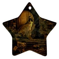 Woman Lost Model Alone Ornament (star)