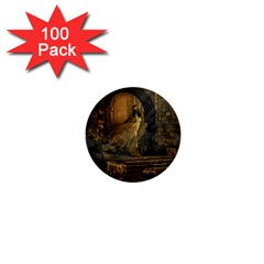 Woman Lost Model Alone 1  Mini Buttons (100 Pack)