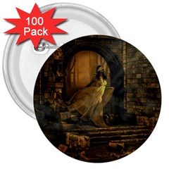 Woman Lost Model Alone 3  Buttons (100 Pack)