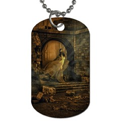 Woman Lost Model Alone Dog Tag (Two Sides)