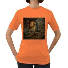 Woman Lost Model Alone Women s Dark T-Shirt