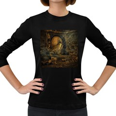 Woman Lost Model Alone Women s Long Sleeve Dark T-Shirts