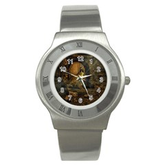 Woman Lost Model Alone Stainless Steel Watch