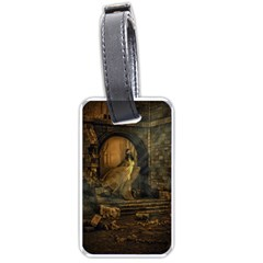 Woman Lost Model Alone Luggage Tags (One Side)