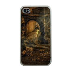 Woman Lost Model Alone Apple iPhone 4 Case (Clear)
