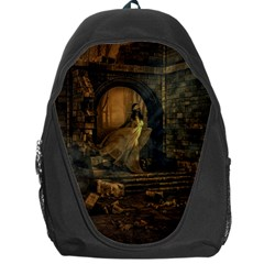 Woman Lost Model Alone Backpack Bag